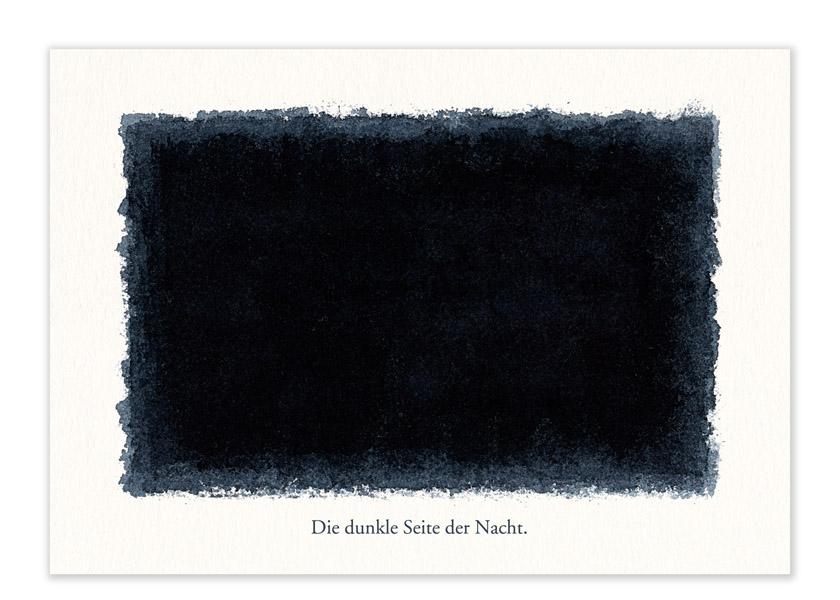 """Karte – """"Die dunkle Seite der Nacht."""""""