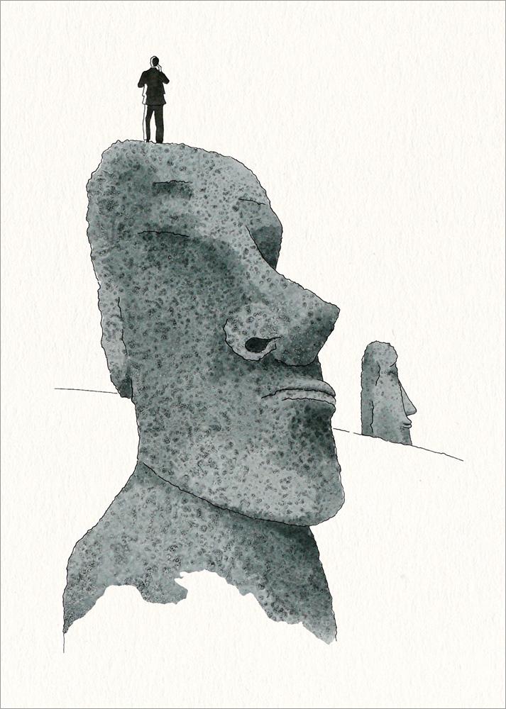 """""""Offenen Auges"""" – Illustration zum Seminar """"Designers Ethik: Gestalten, Entscheiden, Verantworten"""""""