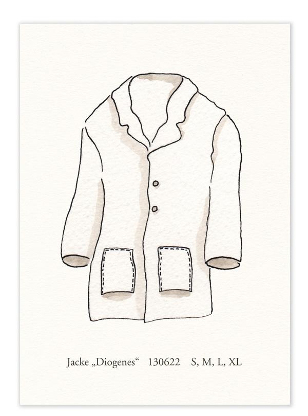 """Karte – """"Jacke Diogenes"""""""