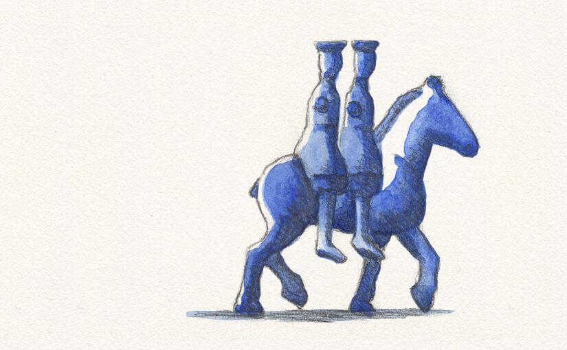 Blau unterwegs