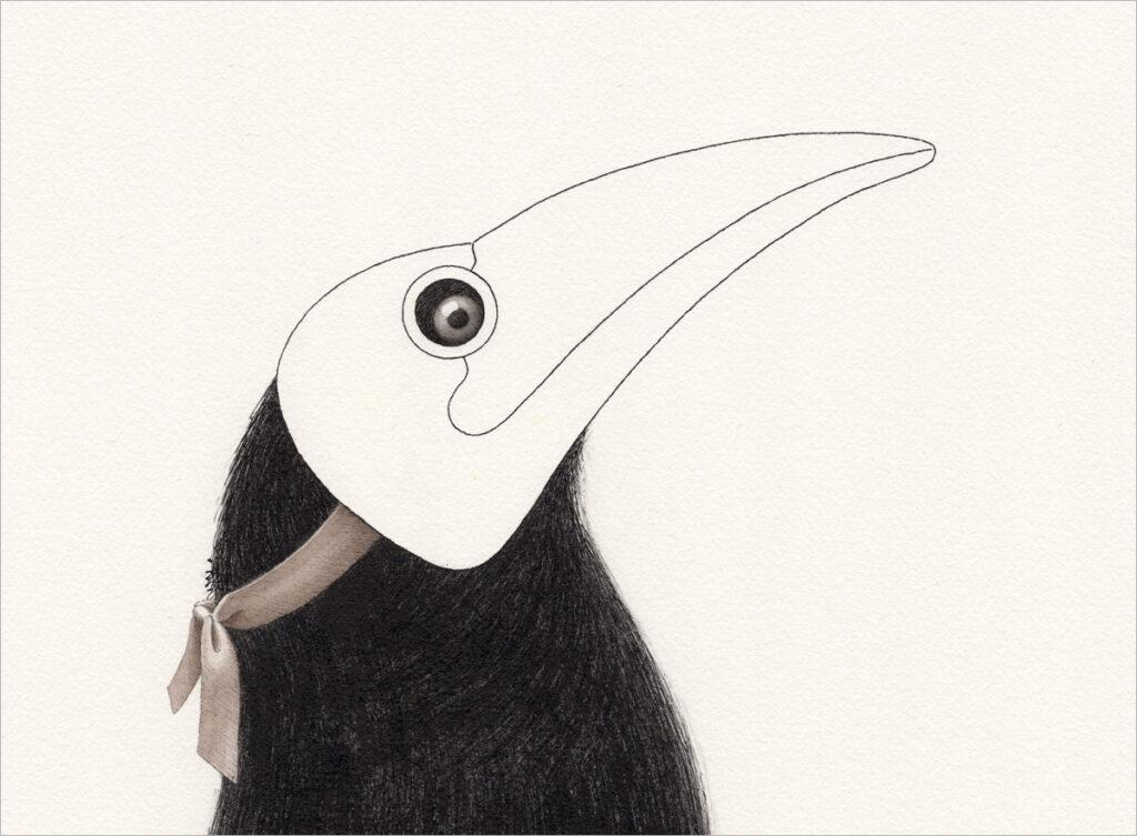 """Zeichnung – """"corvus corone"""""""